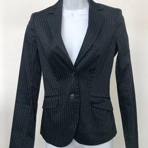 Sisley Navy Pinstripe Blazer Size 38 US 4 XS